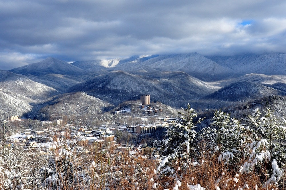 The-mountains-and-the-downtown-area-covered-in-snow-near-our-Gatlinburg-luxury-condo-rentals.jpg